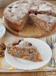 Рецепт – Пирог с абрикосами и орехами