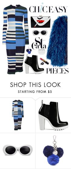 """Navy Blue"" by neverboring ❤ liked on Polyvore featuring Opening Ceremony, Melissa, Nine West, Chanel, Charlotte Olympia, StreetStyle, stripes, navy and casualoutfit"