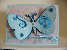 Butterfly card made with Cricut Expression and Serenade cartridge.