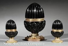 Buy online, view images and see past prices for Three French Bronze-Mounted Black Cut Glass Boxes. Invaluable is the world's largest marketplace for art, antiques, and collectibles. Glass Dresser, Glass Boxes, Black Glass, Acorn, Cut Glass, Decorative Boxes, Auction, Bronze