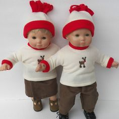 Bitty Baby Twins Clothes Boy and Girl by adorabledolldesigns