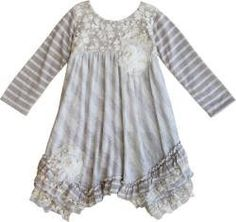 Latest Arrivals Isobella & Chloe ... Check it out here http://jenskidsboutique.net/products/isobella-chloe-gray-and-cream-whimsical-wishes-long-sleeve-dress