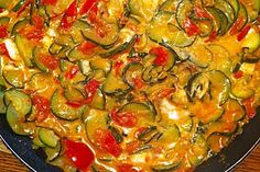 Stove for tomatoes and zucchini with feta cheese 6 - Recipes Easy & Healthy Tomate Zucchini, Zucchini Lasagne, Zucchini Tomato, Healthy Vegetable Recipes, Vegetarian Recipes, Food Dishes, Main Dishes, Food Inspiration, Good Food