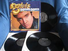 Vintage ELVIS  50 Years 50 Hits Vinyl 3 LP Set by sweetleafvinyl, $11.11