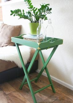 Attractive Upgrade A TV Tray Table Into A Makeshift Bar Cart.