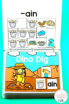 Kindergarten long vowels activities for kids! Play these phonics games to teach long vowels with interactive worksheets for Kindergarten or First Grade.