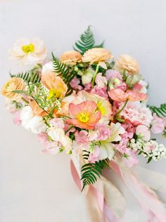 These are the best poppy wedding bouquets. The flower will add a splash of your color to your bridal bouquet. Poppy Wedding Bouquets, Poppy Bouquet, Ranunculus Bouquet, Spring Bouquet, Floral Bouquets, Floral Wedding, Wedding Flowers, Bride Flowers, Bridal Bouquets