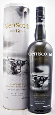 Glen Scotia 12 year old Single Malt Whisky 46% 70cl Tasting notes added