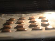 Macarons cu ciocolata - Macaron in cuptor, la jumatatea timpului de coacere Diet And Nutrition, Macaroons, Cookies, Desserts, Christmas, Food, Macaroni, Crack Crackers, Tailgate Desserts