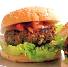 Classic home-made burgers served topped with a spicy relish prepared from a ratatouille base. Why get shop-bought when it's so easy to make real burgers at home. This will go down a storm at any barbecue.
