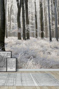 Winter forest Wall Mural - Wallpaper