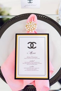 chanel table set