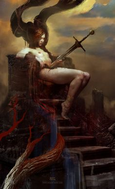 The Impaled Queen www.roman-noir.com ©Bastien Lecouffe Deharme / Applibot