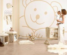 Teddy Bear Kid's Room Wallpapers