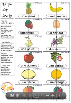 Jeu des fruits from Babelzone - Year 1
