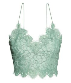 Stunning mint lace non-wired bustier for a special romantic mood