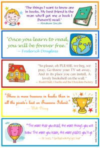 Free Printable Bookmarks Quotes About Reading