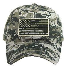 066641da4d9 USA American Flag Baseball Cap Military Army Operator Adjustable Hat (Acu.  Camo)
