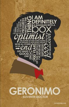 Dr. Who 11th Doctor Matt Smith Quote Poster by OutNerdMe on Etsy