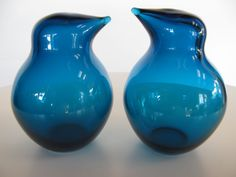 A Pair of Glass Birds by Sakari Pykala for Riihimaki image 2