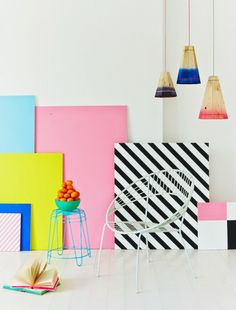 COLOUR POP BY CHARLOTTE LOVE   Charlotte Love is a London-based interior stylist and set designer who recently made a colour pop series with still-life photographer Joanna Henderson for Heart Magazine. The prop designer has styled up this story through pastels and graphic lines. #colour palette, #design