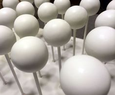 Plain white cake pops