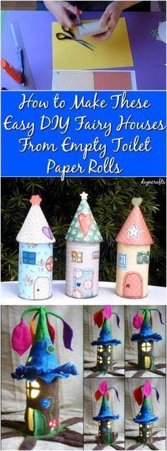 How to Make These Easy DIY Fairy Houses From Empty Toilet Paper Rolls {Cute project}