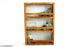 Apothecary DIY Wall Shelf Plans - Rogue Engineer 1