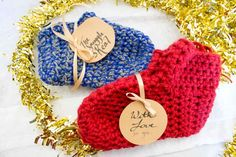 """""""Do you suffer from perpetually cold feet in the winter or know someone who does? This season, why not cozy up with some hand made crochet slippers! An easy project that is sure to impress this holiday season and keep your feet warm at the same time! Great for beginners and advanced crochetters alike. Just grab some chunky yarn and a size N hook (or smaller for smaller sized feet) and let's make some slippers!"""""""
