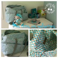 Tuto couture: My favorite diaper bag, the most sewn in history- Changing bag Coin Couture, Baby Couture, Couture Sewing, Baby Diy Projects, Diy Bebe, Baby Sewing, Sewing Tutorials, Diy For Kids, Diy Accessories