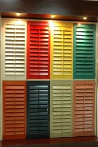 Colored Plantations shutters!!!