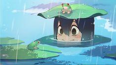 1440x810px   free download   HD wallpaper: Boku no Hero Academia, anime girls, Tsuyu Asui, water, green color