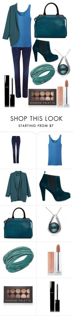 """""""Tallulah #037"""" by roisindunne ❤ liked on Polyvore featuring Mother, Uniqlo, H&M, Ganni, Danielle Nicole, Allurez, Swarovski, Maybelline, Forever 21 and Chanel"""
