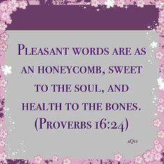 Keep my words pleasant Lord.