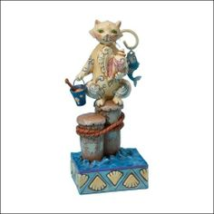 Jim shore  | Jim Shore Heartwood Creek from Enesco Coastal Cat Figurine 6.75 IN