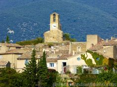 The clock tower Lourmarin in the Luberon Valley, Vaucluse, Provence, France