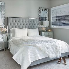 This is a Bedroom Interior Design Ideas. House is a private bedroom and is usually hidden from our guests. However, it is important to her, not only for comfort but also style. Much of our bedroom … Romantic Master Bedroom, Glam Bedroom, Small Master Bedroom, Master Bedroom Design, Beautiful Bedrooms, Bedroom Sets, Home Decor Bedroom, Bedroom Furniture, Bedroom Designs