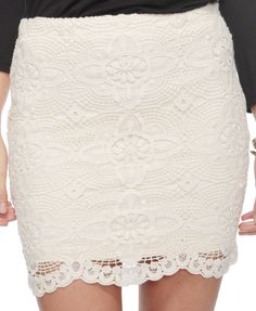 too short for me but it reminds me of the lace skirt I've seen all over Pinterest. $22.80 at XXI