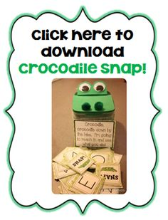 Crocodile snap game for learning letters and sounds Abc Games, Alphabet Activities, Language Activities, Alphabet Crafts, Preschool Letters, Learning Letters, Kindergarten Literacy, Literacy Centers, Early Learning