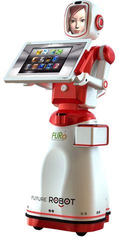 FURo, by Future Robots : multi-service robotized hostess