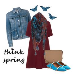 Designer Clothes, Shoes & Bags for Women Malone Souliers, Etienne Aigner, Plus Size Dresses, Style Ideas, Valentino, Scarves, Spring, Polyvore, Stuff To Buy