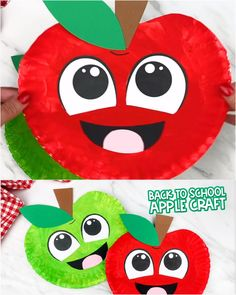 Paper Plate Crafts For Kids, Fall Crafts For Kids, Art For Kids, Apple Crafts For Preschoolers, Thanksgiving Kids Crafts, Back To School Crafts For Kids, Winter Craft, Daycare Crafts, Classroom Crafts