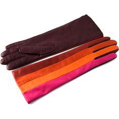 """Bodypaint"" cashmere-lined lambskin gloves by Hester van Eeghen"