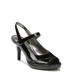 4340c21a213 Lifestride Women s Vena Medium Wide Peep Toe Pump Shoes (Black)