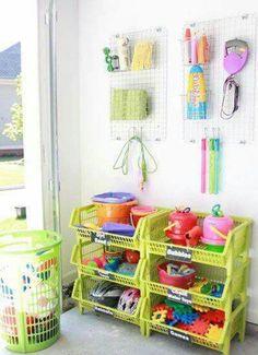 Storage Idea for Outside Toys