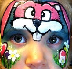 Easter Bunny Face Paint Tutorial Halloween Rabbit Face Paint
