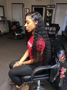 These black hairstyles with weave are stylish – Schwarze Frisuren Black Hairstyles With Weave, Black Girls Hairstyles, Wig Hairstyles, Frontal Hairstyles, Sew In Weave Hairstyles, Teenage Hairstyles, School Hairstyles, Straight Hairstyles, Birthday Hairstyles