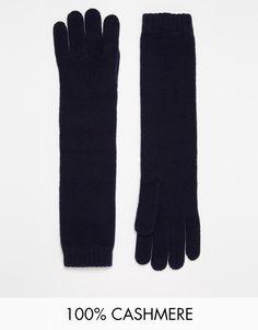 Gants par Johnstons Laine de cachemire Coupe longue Bords côtelés Lavage à la main 100% laine de cachemire