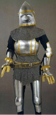 Ulrich IV. von Matsch harness, from Milan c. 1361 - 1366 (missing mail, spaulders, finger lames, and leg defenses), Churburg Castle, Austria.