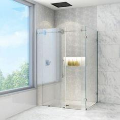 VIGO 36 x 48 Frameless Clear Shower Enclosure